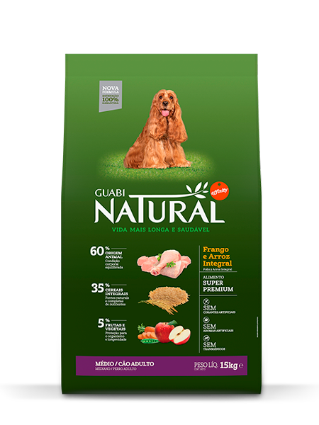 GN-Cereais-Integrais-Cão-Adulto-Médio-Sabor-Frango-e-Arroz-Integral-15kg-FRONTAL