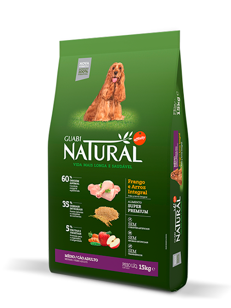 GN-Cereais-Integrais-Cão-Adulto-Médio-Sabor-Frango-e-Arroz-Integral-15kg-LATERAL
