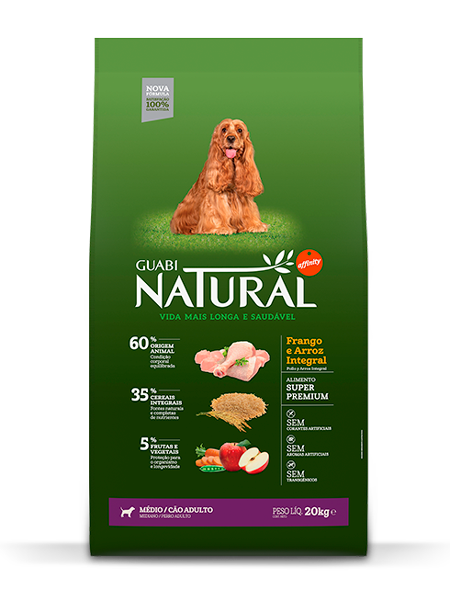 GN-Cereais-Integrais-Cão-Adulto-Médio-Sabor-Frango-e-Arroz-Integral-20kg-FRONTAL