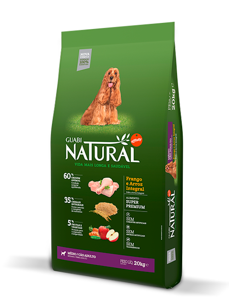 GN-Cereais-Integrais-Cão-Adulto-Médio-Sabor-Frango-e-Arroz-Integral-20kg-LATERAL